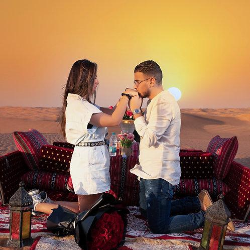 Demande en mariage dans le désert de Dubai
