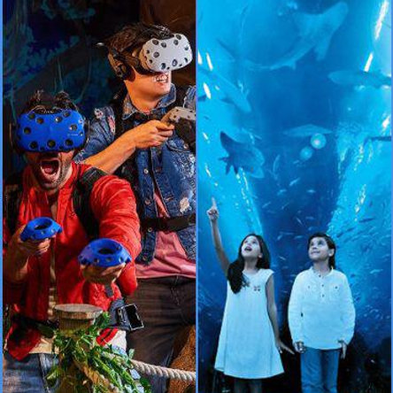Pass Super 7 pour la Réalité Virtuelle à Dubai Mall + Aquarium Dubai Mall