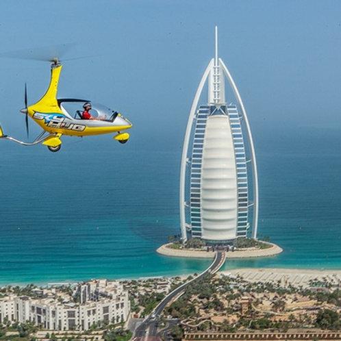 Vol privé en Gyrocoptère 20minutes au dessus de Dubai