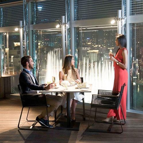 Visite du Burj Khalifa 124 125 + Dinner ou Lunch sur Rooftop vue sur fontaines