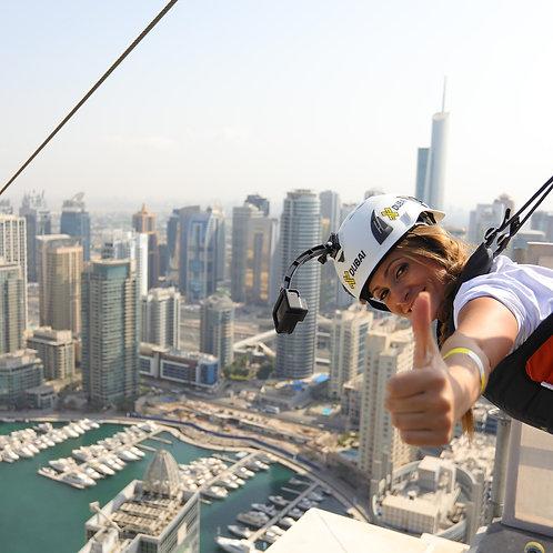 Tyrolienne urbaine à Dubai