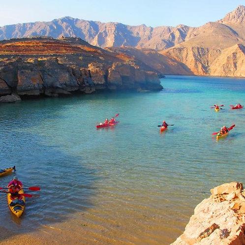 2 Jours + 1 nuit à Oman entre Kayak et Croisiere avec Transport depuis Dubai