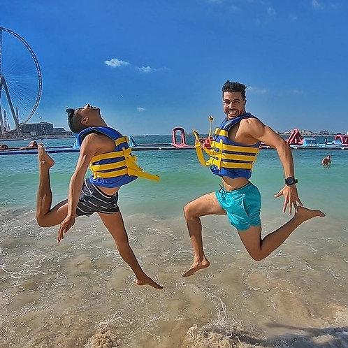 Entrée pour le plus grand parc gonflable du monde à Dubai