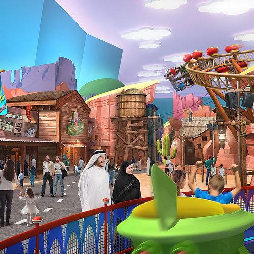 Entrée pour Warner Bros à Abu Dhabi