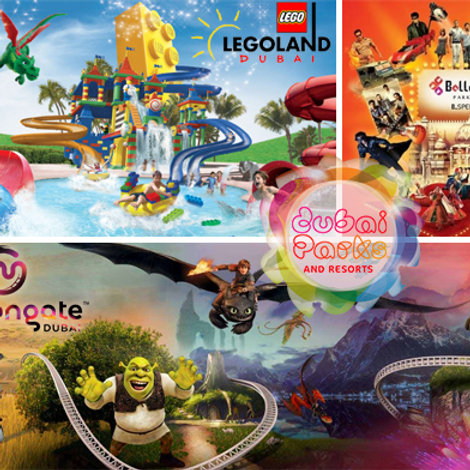 1 Jour et Billet pour 2 Parcs ( Bollywood,Motion Gate,Légoland, Légo Waterpark)