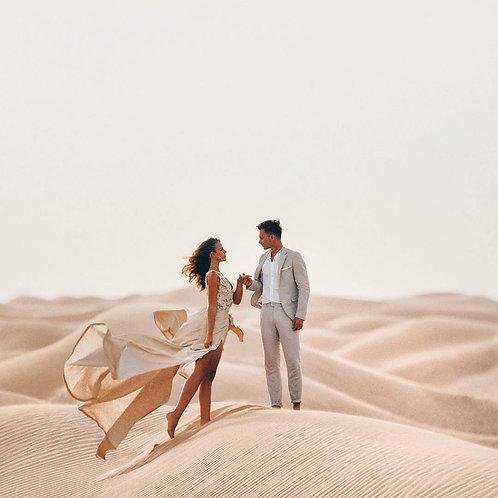 Shooting photo dans le désert à Dubai + Location de robe