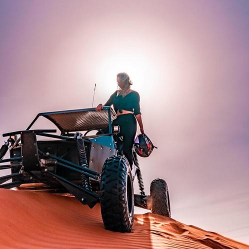 Safari Privé à Dubai + Transport +Surf et 1h de Buggy
