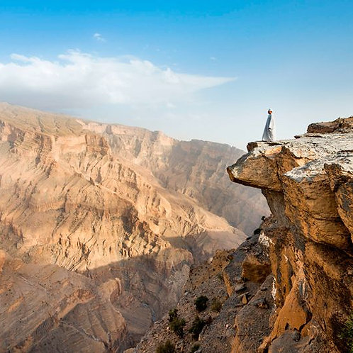 Visite de Nizwa , Al Hamra , Wadi Ghul et Jebel Shams depuis Mascate à Oman