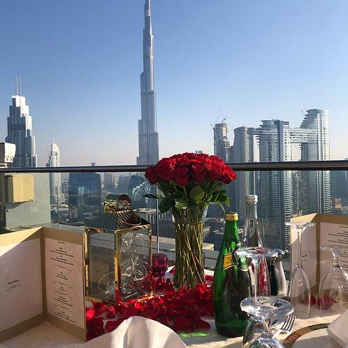Dinner Romantique en Terrasse Privative à Dubai