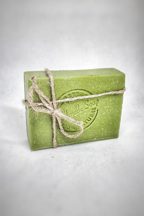 Spirulina Mint Basil  Soap 100 % Organic