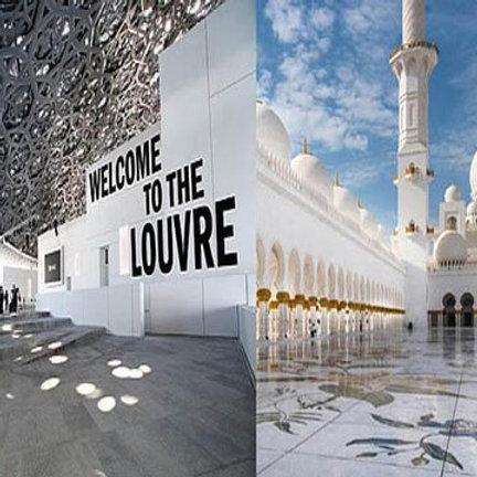 Visite de Abu Dhabi, Mosquée,Palace+ Louvre ..+ Transport depuis Dubai