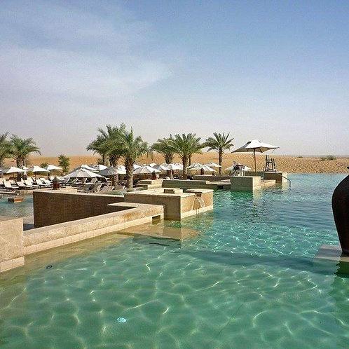 Journée dans une piscine au millieu du désert de Dubai,Bal al shams