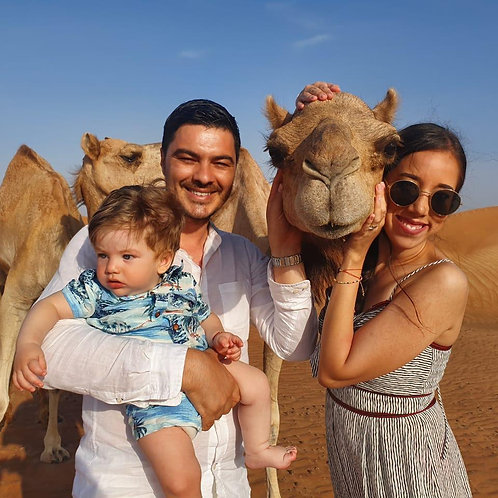 Safari matinal à Dubai avec transport,Visite ferme,surf, quad possible