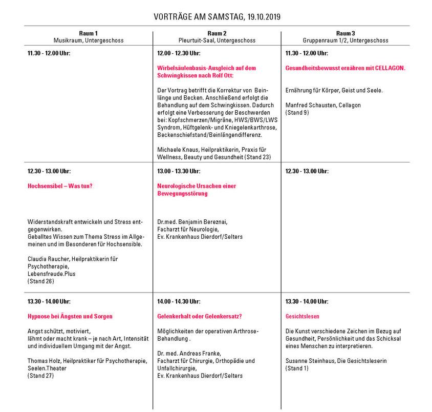 Vorträge Samstag 1