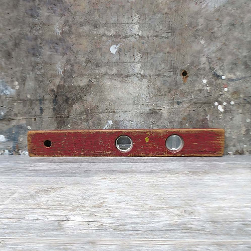 Vintage Level with Shabby Red Paint
