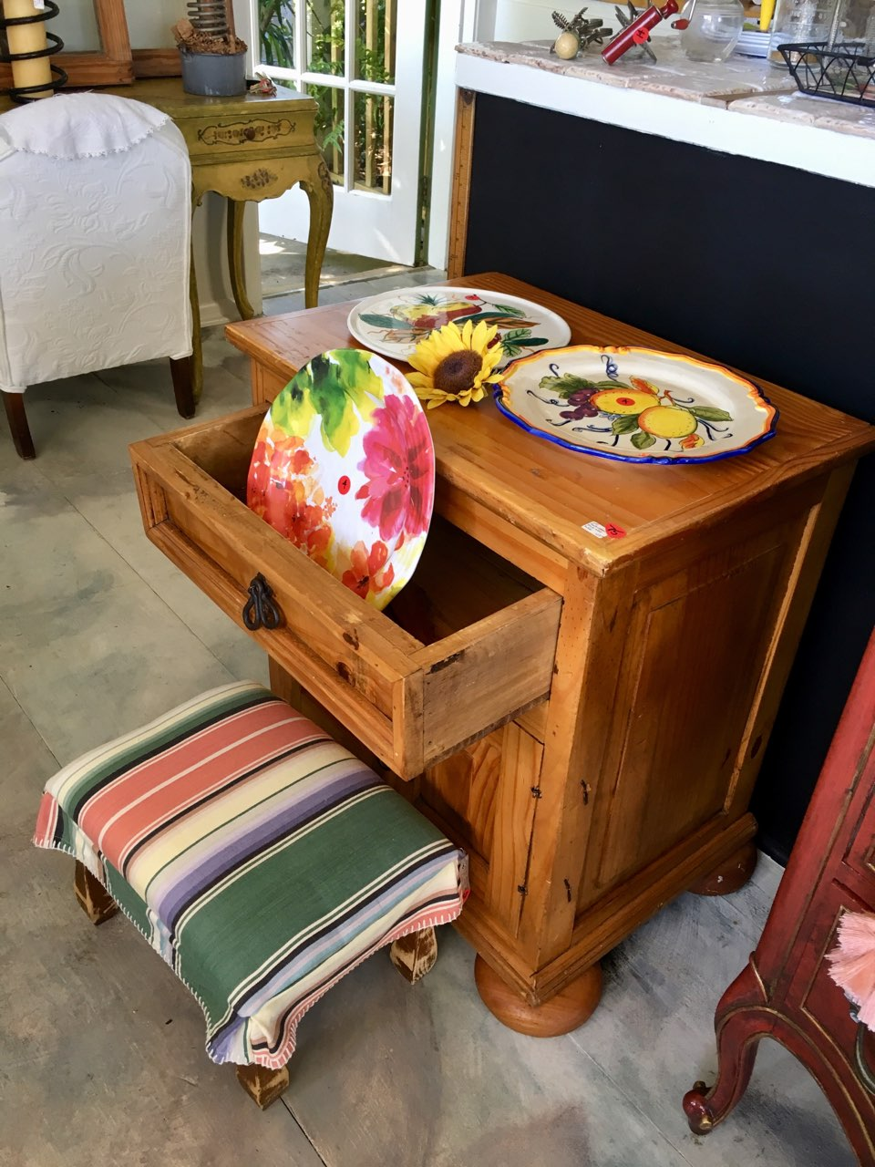 Southwest chest with Footstool