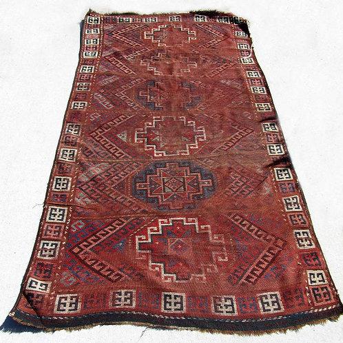 Antique Kilim Carpet with Natural Vegetable Dye