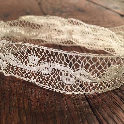 Antique Tulle Réseau Lace Ribbon - Net Lace Ribbon