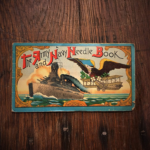 Vintage Army Navy Needle Book