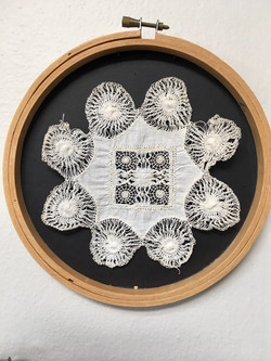 Sol Lace in Embroidery Frame