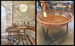 Hairpin Table with Basket Top