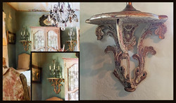 SOLD: Ornate Wooden Wall Shelf