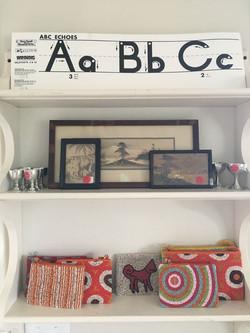 Shelf by front door
