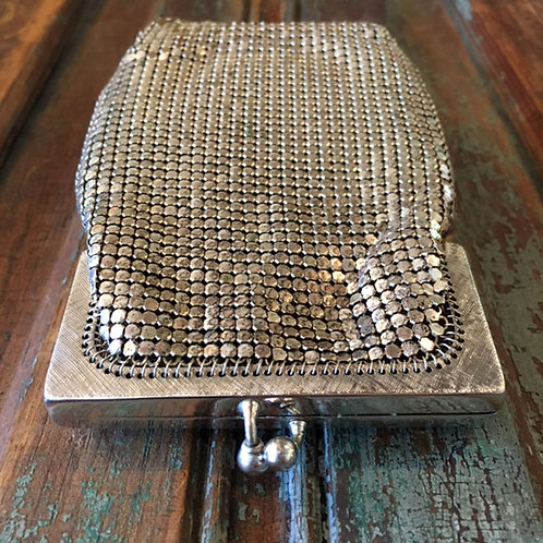 Whiting and Davis Silver Mesh Eyeglass Case