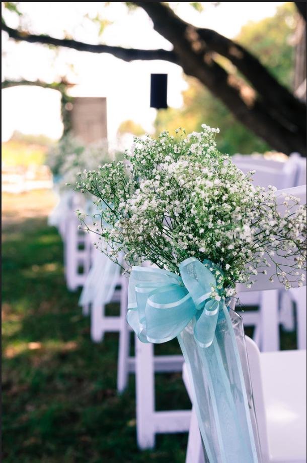 Outdoor Ceremony Chair Aisle Accents