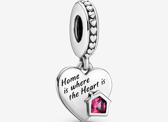 Charm Pendant Cœur Ma Maison Adorée