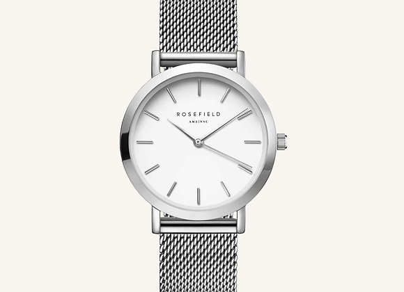 The Tribeca Blanc - Argent 33mm