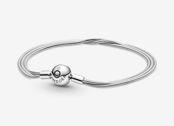 Bracelet Maille Serpent Multi-Rangs Pandora Moments