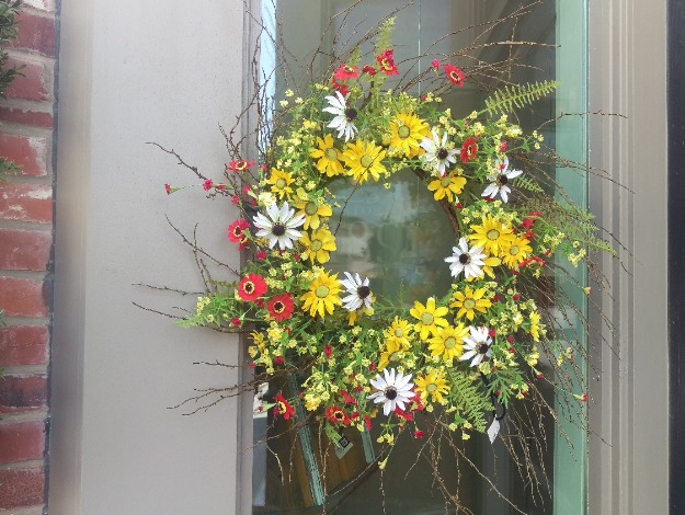 A Blast of Color with a Wreath