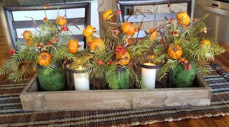 Fall Decor, Dining Table Centerpiece