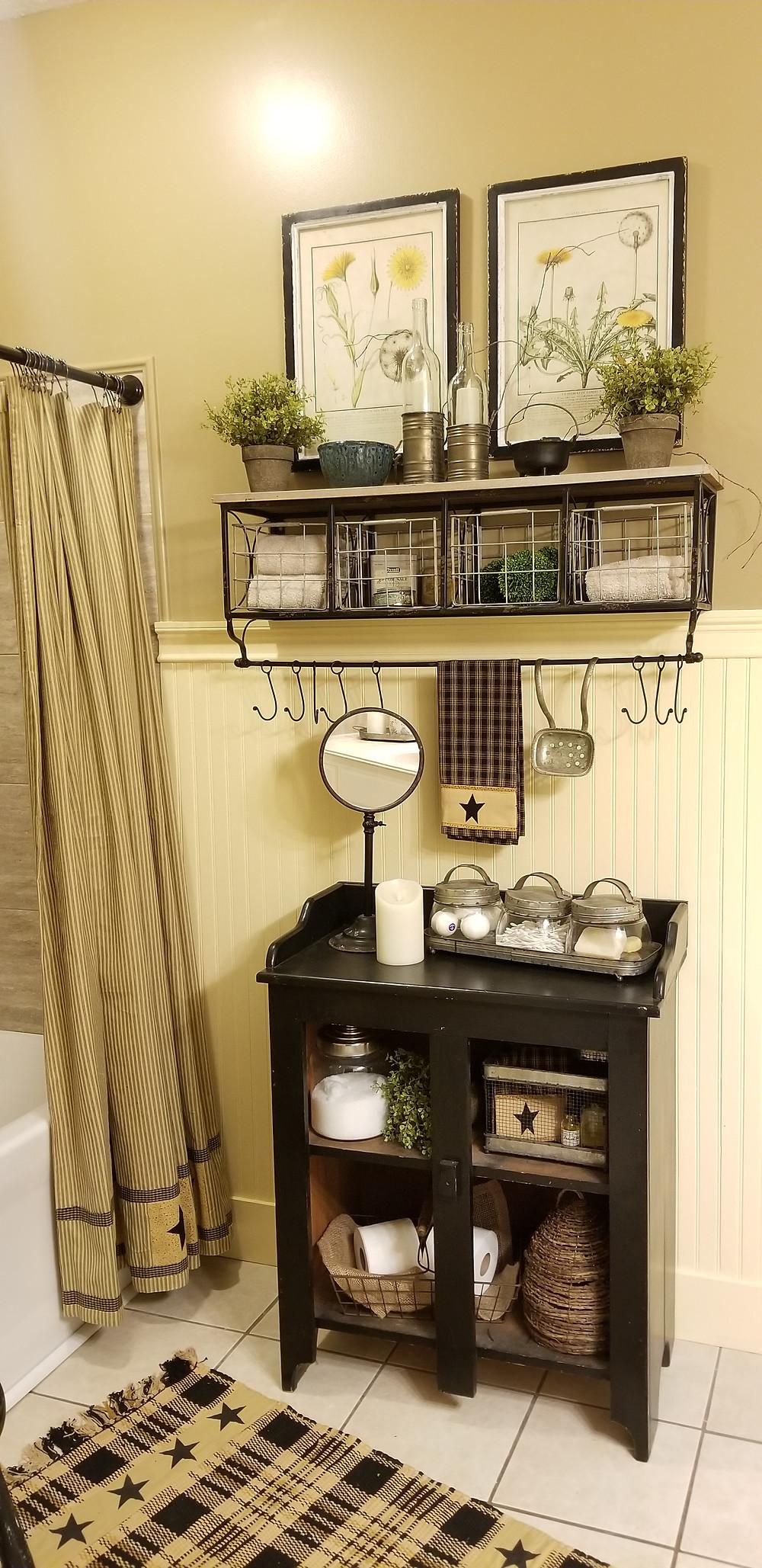 Bathroom Makeover, Storage Shelf