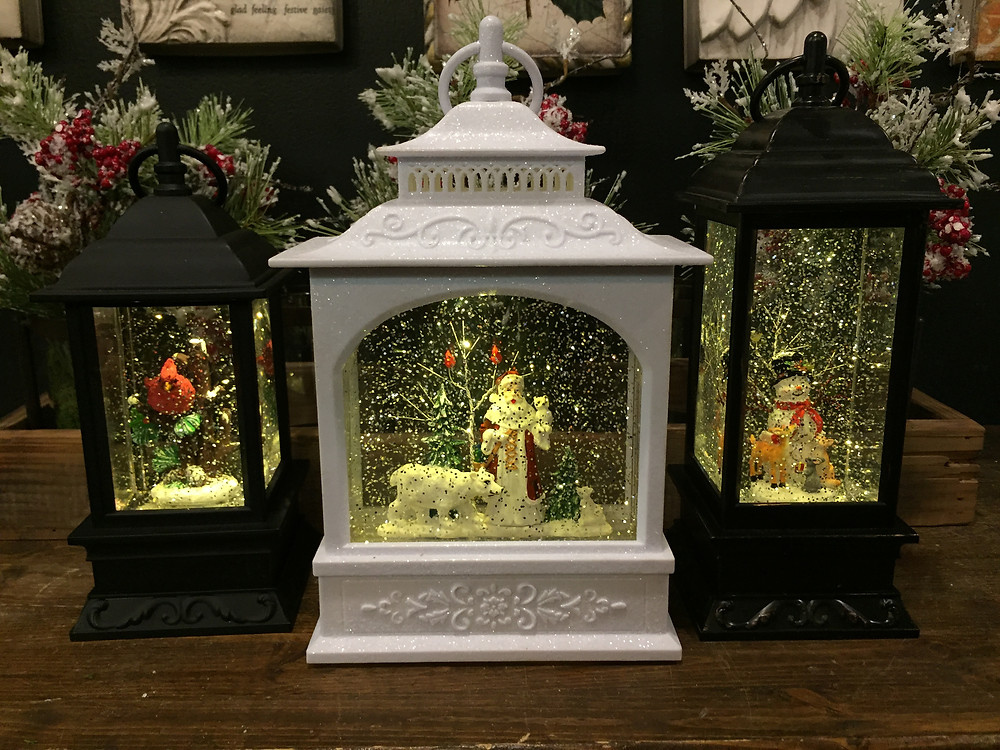 battery powered lighted water lanterns with picture window