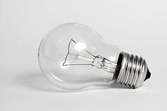 Light bulb transperent isolated on white