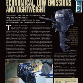 Tohatsu's New Four-Stroke Economical, Low Emissions And Lightweight