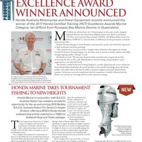 Honda Marine Hot Excellence Award Winner Announced