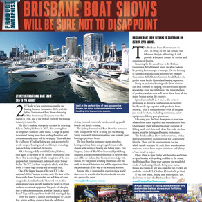 Boating PAs: BIA's 2017 SYDNEY AND BRISBANE BOAT SHOWS