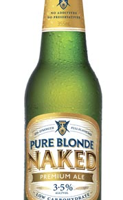 FOSTERS PURE BLONDE NAKED