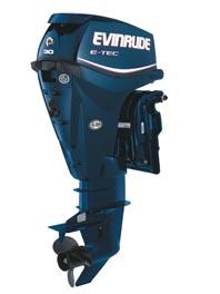 The New 25 & 30 HP Evinrude E-TECs