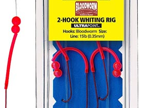 MUSTAD BLOODWORM WHITING RIG