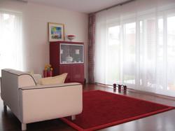 Stoffdeko mit Teppich