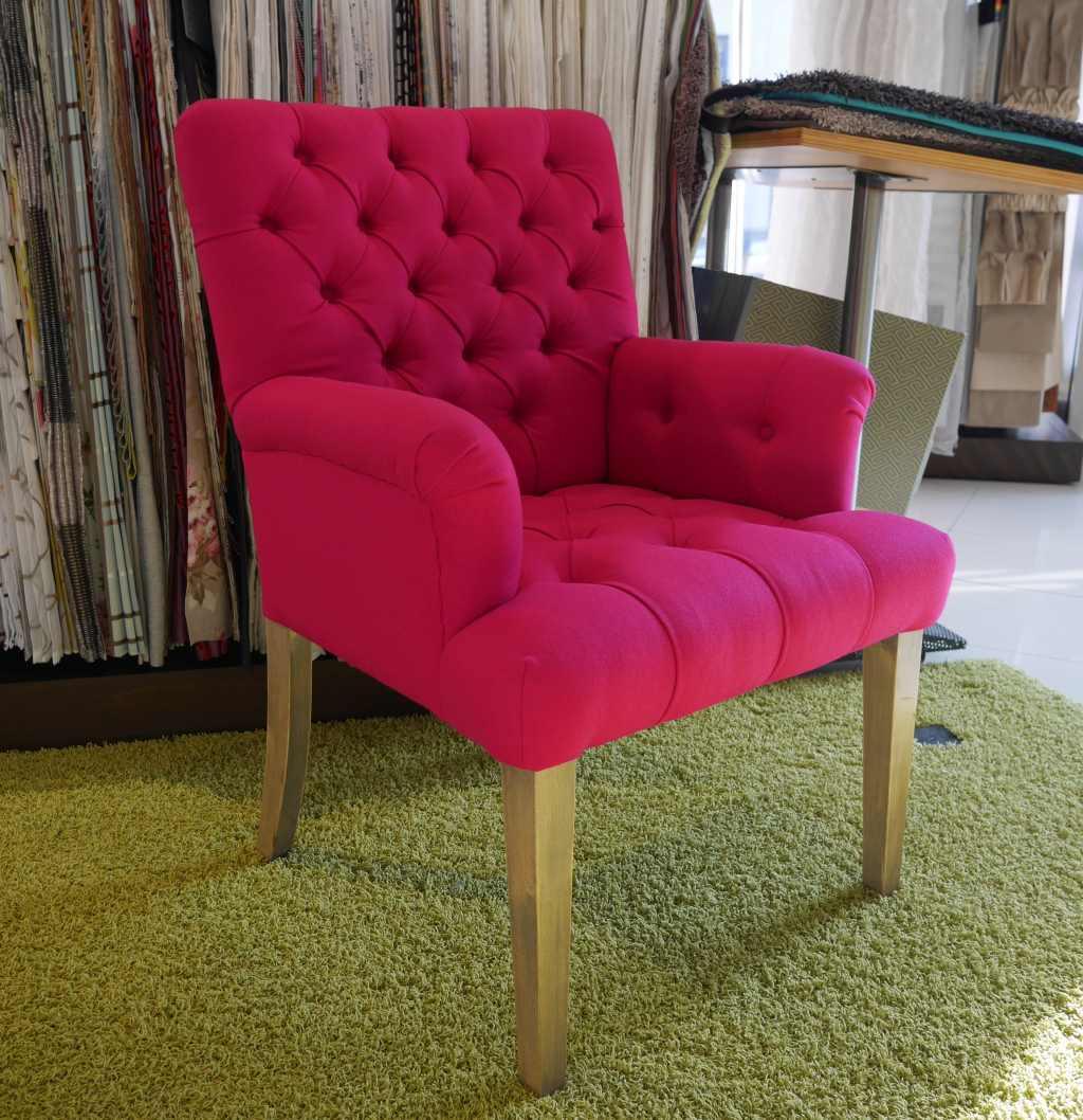 Sessel mit Heftung eigene Polsterei