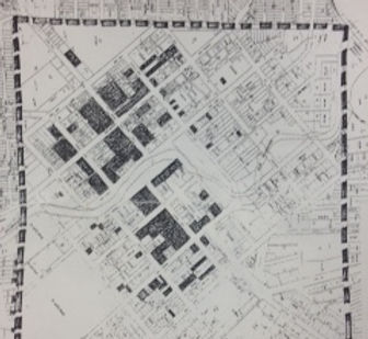 Built environment 1862 map square mile.J