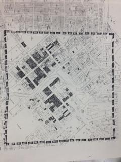 Built environment 1862 map square mile.J