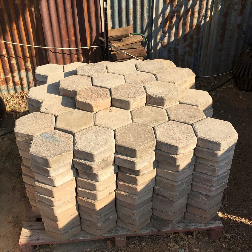 Hexagons within a Hexagon - Paving Workshop