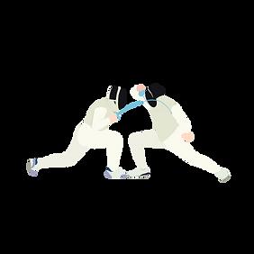 千库网_手绘卡通人物击剑健身运动比赛免扣图_元素编号10945636.png