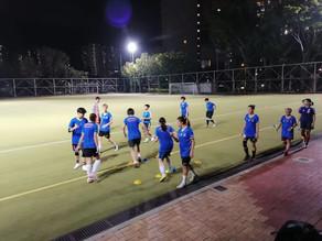 女子足球隊積極操練進行中